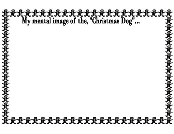 Visualization with Christmas Dog