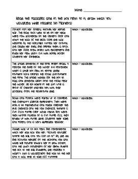 Visualization worksheet