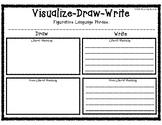 Visualize Draw Then Write Literal Language Graphic Organizer