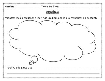 Visualize Graphic organizer freebie {Spanish}
