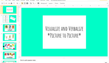 Visualize and Verbalize Structure words google slides