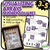 Number Tiles: Arrays - Printed Cards or iPad Puzzles