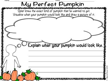 Visualizing Freebie inspired by Splat the Cat and The Pumpkin Picking Plan