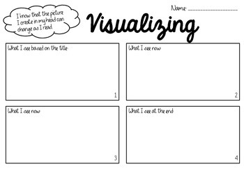 Visualizing Graphic Organizer Freebie