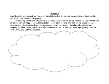 Visualizing Lesson Plan with the book Wonder!