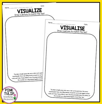 Visualizing - Reading Worksheet Pack
