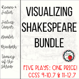 Visualizing Shakespeare Bundle (5 plays, 145 pgs, 380+ que