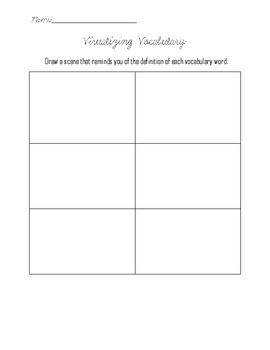 Visualizing Vocab Worksheet