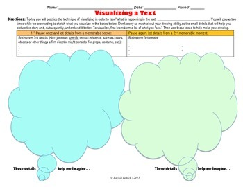 Visualizing a Text Graphic Organizer with Reflection Component