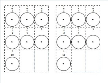 Visualizing and Comparing Fractions Introduction using Models EDITABLE
