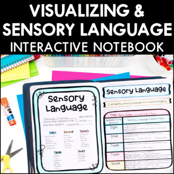 Visualizing and Sensory Language Interactive Notebook Pages