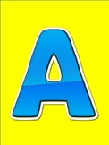 A-Z Capital Letter Word Wall Alphabet Posters for Visually