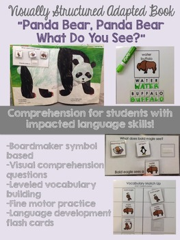 "Visually Structured Adapted Book- ""Panda Bear, Panda Bear, What Do You See?"""