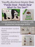 "Visually Structured Adapted Book- ""Panda Bear, Panda Bear, What Do You See?"""