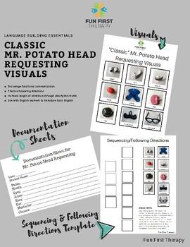 Visuals:  Classic Mr. Potato Head Requesting Cards