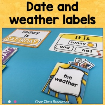 Warm Up Activity : Days, Months, Ordinal Numbers and Weather Labels