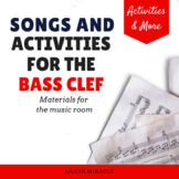 Bass Clef Staff Visuals and Activities