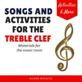 Treble Clef Staff Visuals and Activities