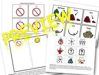 PUSH-IN Visuals:  for auditory processing, social skills, learning behaviors