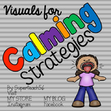 Visuals for Calming Strategies FREEBIE *SPECIAL EDUCATION