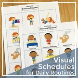 Back to School. Visual Schedule for Daily Routines Printables (Toddlers) (ASD)