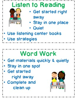 Visuals for Resource Room Literacy Centers