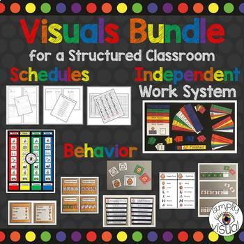 Visuals for a Structured Classroom Bundle
