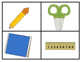 Visuals for materials needed during a lesson