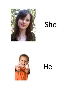 Visuals for pronouns (he, she, they)