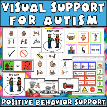 Visuals for Students with Autism, Aspergers:Behavior Support & Coping Strategies