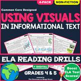 Visuals in Nonfiction Text: ELA Reading Comprehension Worksheets   GRADE 4 & 5