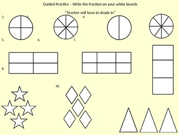 Visuals of Fractions and Equivalent Fractions PowerPoint