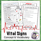 Vital Sign Vocabulary Learner Pack
