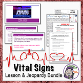 Middle School Life Science: Vital Signs Activity Bundle including Jeopardy Game