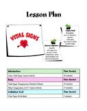 Vital Signs Lesson
