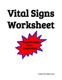 Vital Signs Worksheet