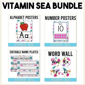 Vitamin Sea Classroom Decor Bundle - Sea Creatures classroom theme