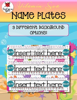 Vitamin Sea Name Plates {Editable}