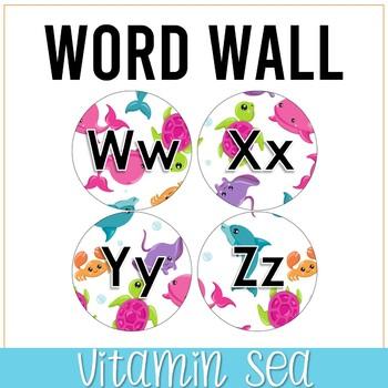 Vitamin Sea Theme Word Wall