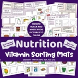 Vitamin Food Sorting Mats - Healthy Eating and Nutrition A
