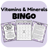 Vitamins and Minerals BINGO