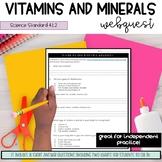 Vitamins and Minerals Webquest (4.L.2)