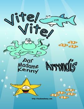 French Math Task Card - Cartes à tâches Arrondir (Jusqu'à