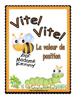 French Math Task Card - Cartes à tâches La valeur de position