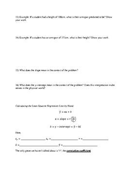 AP Statistics - Vitruvian Man - Data Analysis