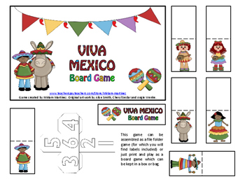 Viva Mexico. Board Game.