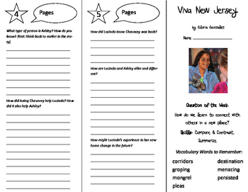 Viva New Jersey Trifold - Reading Street 6th Grade Unit 1 Week 3