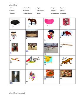 Viva el Toro - Vocabulary Activities