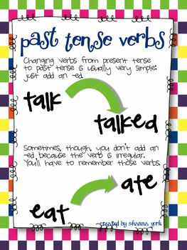 Vivacious Verbs: Verbs and Tenses, with a focus on Irregular Past Tense