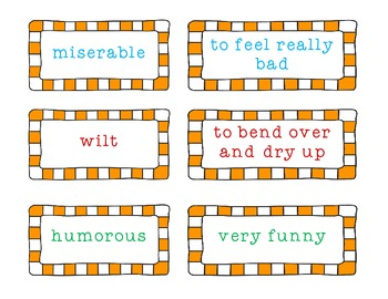 Vivacious Vocabulary ( to use with Chrysanthemum)